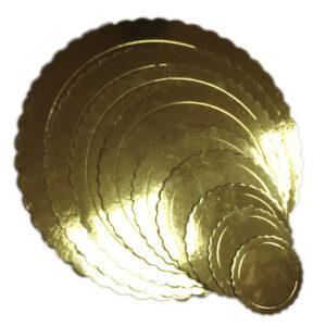 Base de cartón Circular Dorada