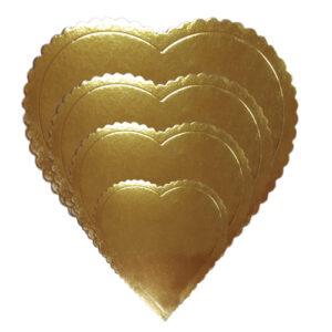 Base de cartón Corazón Dorado