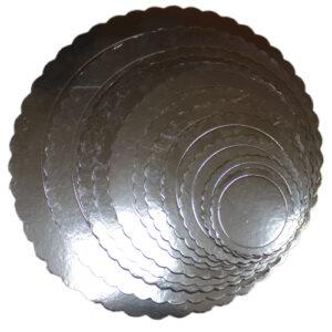 Base de cartón Circular Plateada